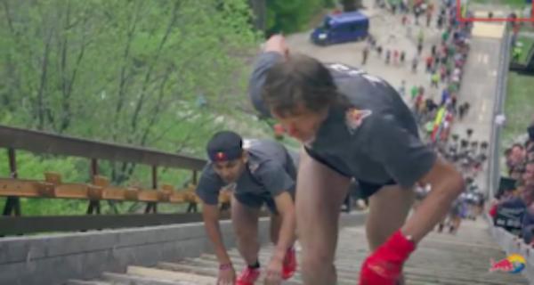 日本初!『世界で最も過酷な400m走』私なら転がり落ちてるなw