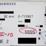 【覚悟】飛行機の搭乗券に「SSSS」の記載があったらヤバい事が…