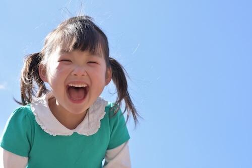 子供,笑顔